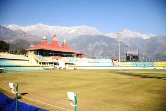 HPCA Stadium: Beautiful snow cladded mountain view