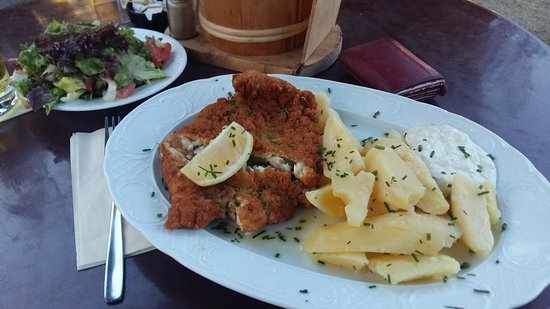 Kerpen, Tyskland: fried fish with boiled potatoes