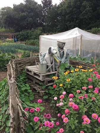 Hinton Ampner, UK: Scarecrow fun