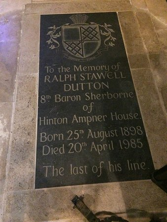 Hinton Ampner, UK: Grave plaque