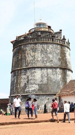 Sinquerim, India: Aguada Fort Watch Tower.