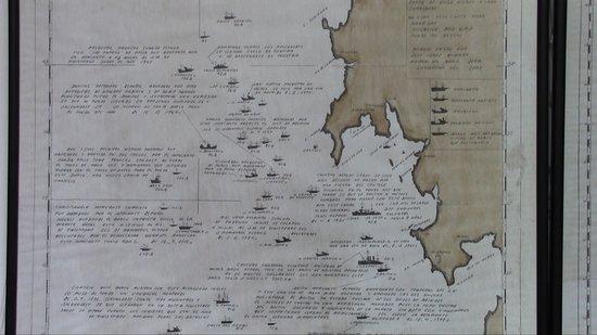 Mapa Costa Da Morte.Mapa Con Anotaciones Y Detalles De Naufragios Enfrente De