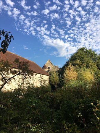 Commanderie of the Knights Templar: depuis le jardin