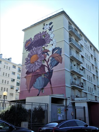 Fresque Bouquet Fleuri