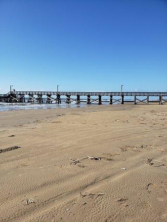 Quintana, Техас: Large pier for walking, viewing