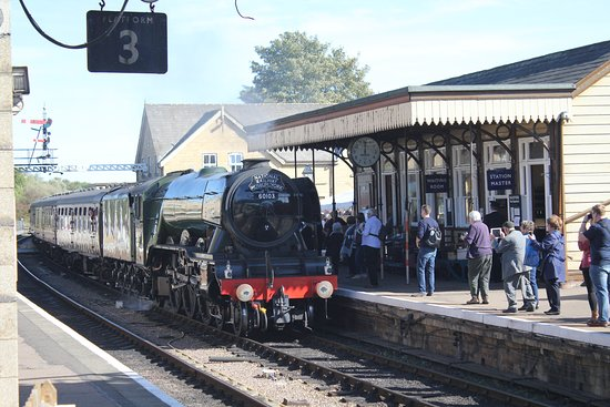 Flying Scotsman Arriving At Wansford Station Platform Picture Of