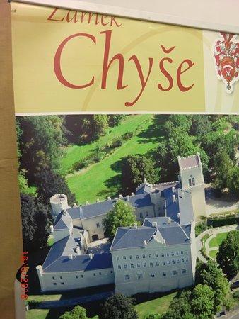 Chyse, Τσεχική Δημοκρατία: Letecký pohled na zámek