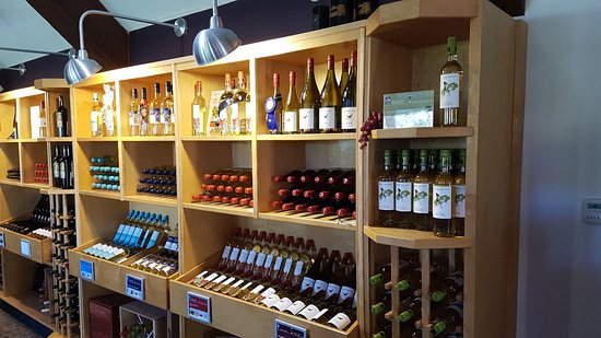 Large selection of wines