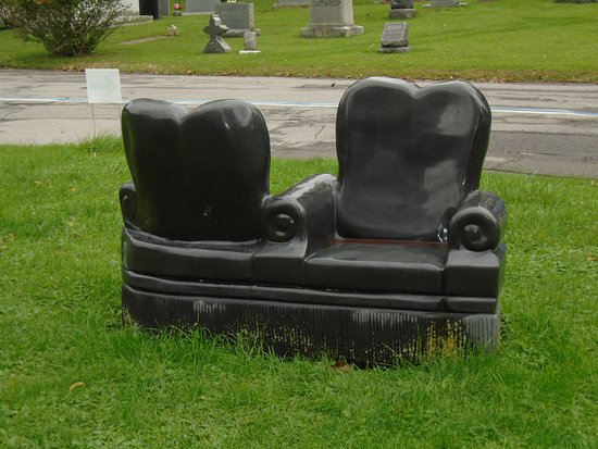 Forest Lawn: Interesting Benches near a Mausoleum