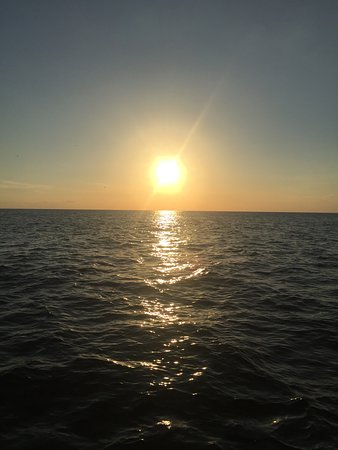 "Paradise Adventures Catamaran: Sunset over the Gulf from the ""Footloose"""