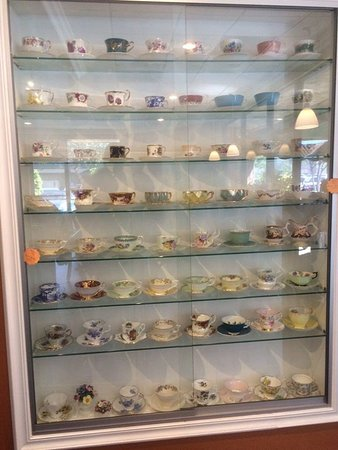 Diamond Bar, CA: There is a cup display inside.