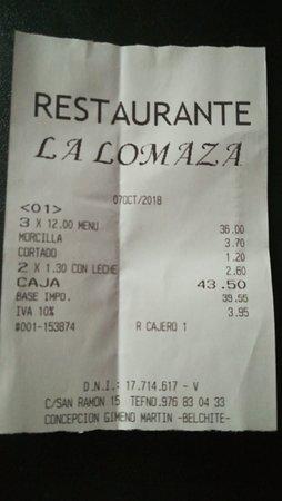 Belchite, Spain: Por este precio y por menos tengo comido en otros sitios y sobrar comida.
