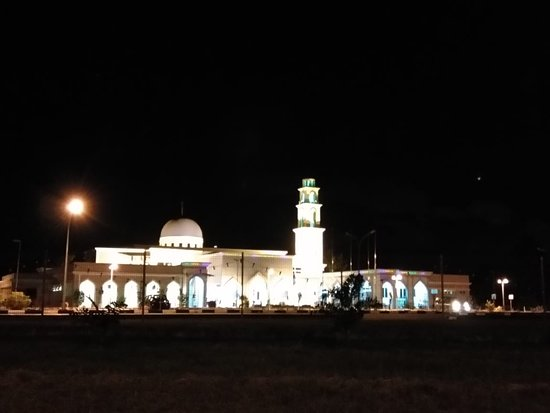 Brunei-Muara District, Brunei Darussalam: The masjid at night