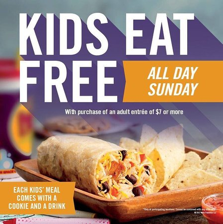 Kids Eat Free Sunday With Adult Meal Purchase Picture Of Moe S Southwest Grill Davenport Tripadvisor