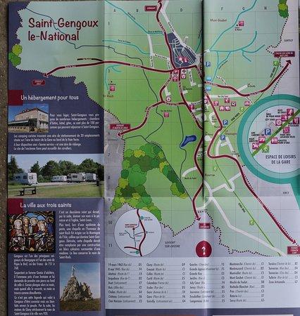 Saint-Gengoux-le-National, ฝรั่งเศส: Plan de la cité médievale en Français, Allemand, Anglais