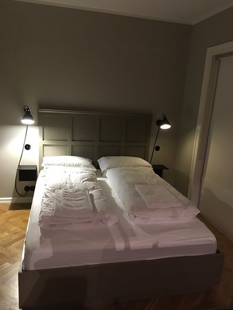 Bed with two duvets