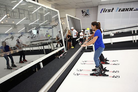 First Traxx Ski & Snowboard Centre: There is a support bar to assist as you build your confidence.