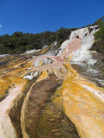 Taupo District, นิวซีแลนด์: Colors at orakei korako