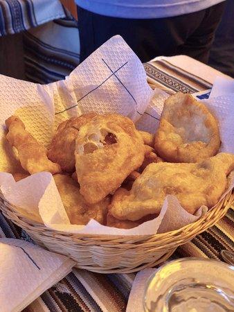 Taquile Island, Peru: Pao frito delicioso