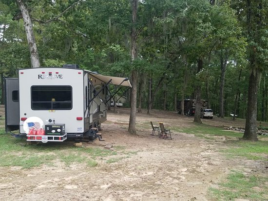 Boyce, LA: Pull thru sites with view of Cotile Lake are reserved for overnight,  weekend, or short-term sta