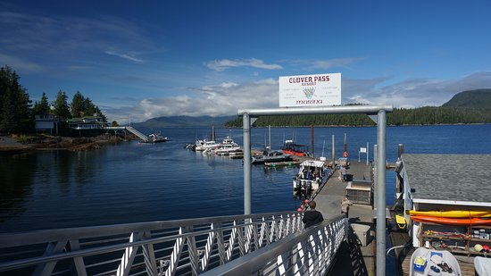 Clover Pass Resort: looking out to the fishing grounds, within a mile of the resort