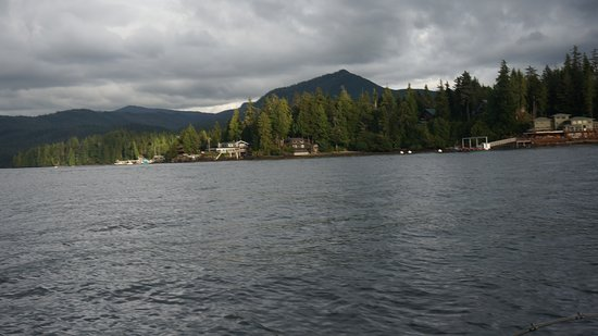 Clover Pass Resort: from the water looking back at the resort