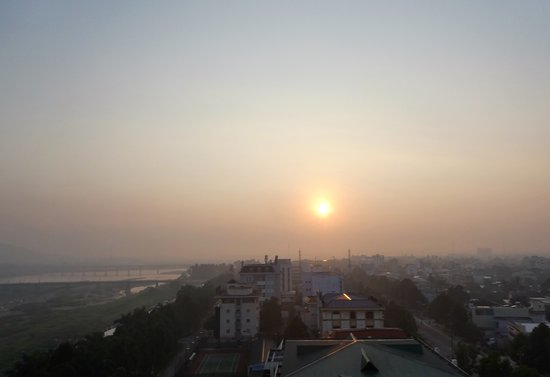 Quang Ngai, Vietnam: Sunrise from an East-facing balcony
