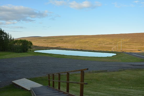 Laugar, Iceland: view from our room