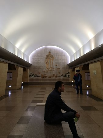 One of metro station in Almaty