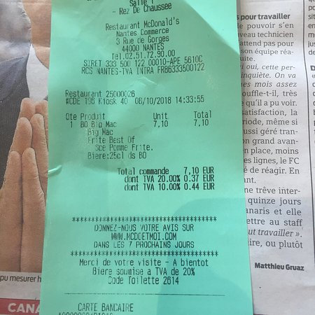mc donalds ticket code