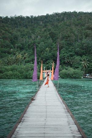 Mansuar Island, Indonesia: 酒店碼頭