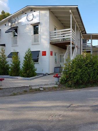 Vallentuna, Sweden: Reception building angle