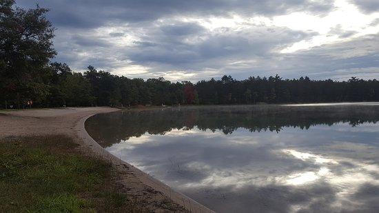 Atlanta, MI: October sky reflection on the lake