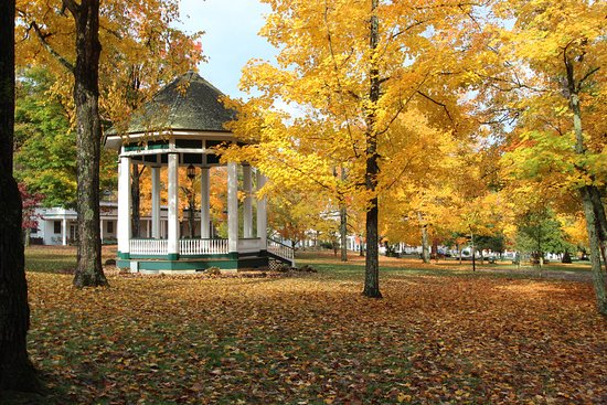 Capon Springs, WV: Capon lawn in the Fall