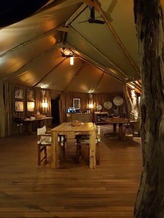 Lower Zambezi National Park, Zambia: Lounge area