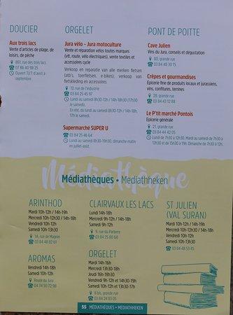 """Office de tourisme Pays Lacs et Petite Montagne: Le guide touristique """"Jura lacs et petite montagne"""