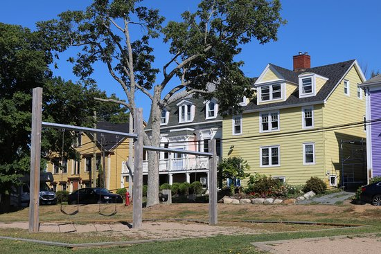 Lunenburg Walking Tours: Play area for children in the centre