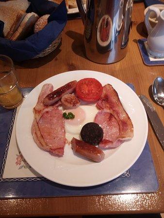 Moyard, Irland: iers ontbijt met black pudding