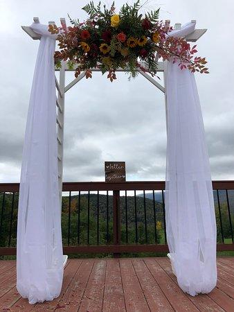 Margaretville, นิวยอร์ก: Deck Wedding