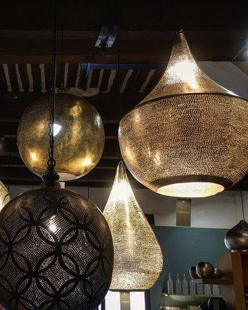 Vaison-la-Romaine, France: Copper lamps