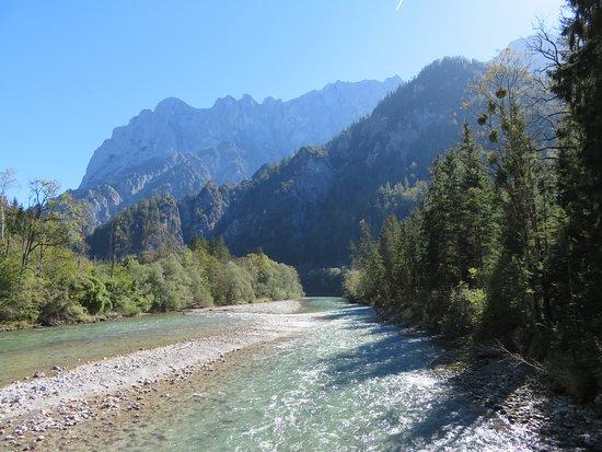 Admont, Østrig: Aussicht von der Bachbrücke