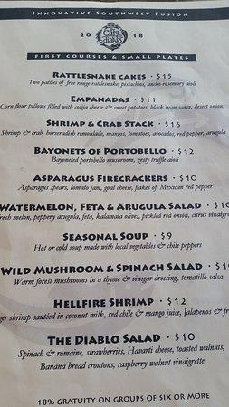 Cafe Diablo: menu obviously