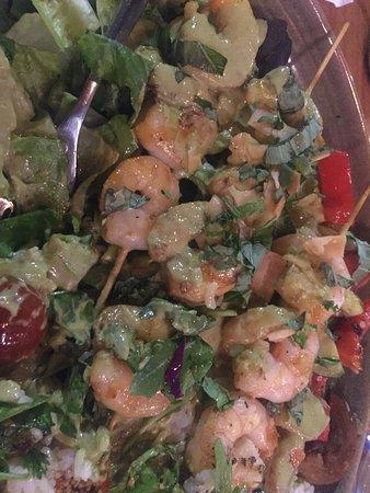 green curry shrimp bowl