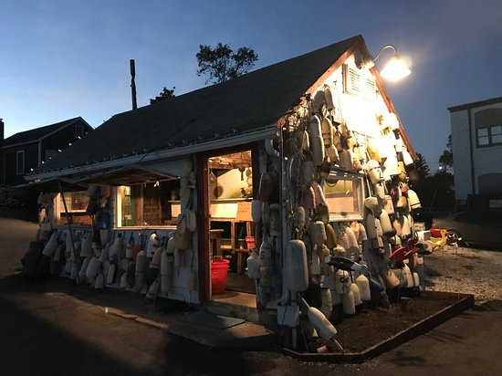 Noank, CT: The lobster house at dusk