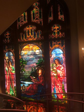 second largest piece of stained glass in the museum