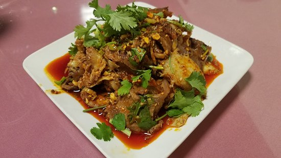 Franklin Square, NY: Beef & Tripe in Chili Oil $9.95 Yummy appetizer! It is spicy & tasty!