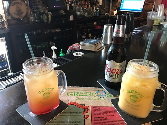 Greengos Caribbean Cantina: The Donkey Punch and the Pain Killer