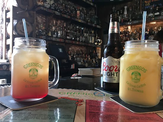 Greengos Caribbean Cantina: Donkey Punch and Painkiller