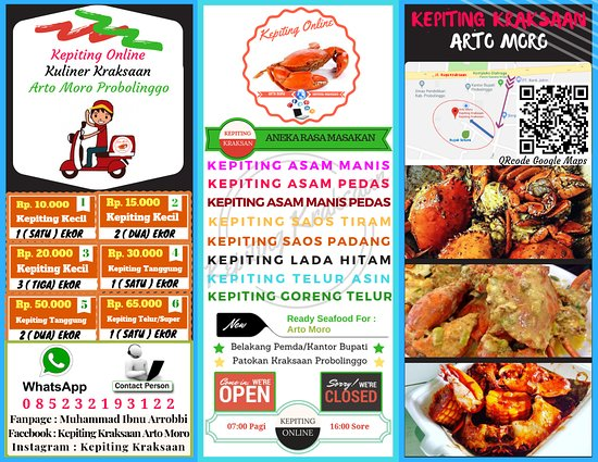 Kepiting Kraksaan Arto Moro Probolinggo Restaurant