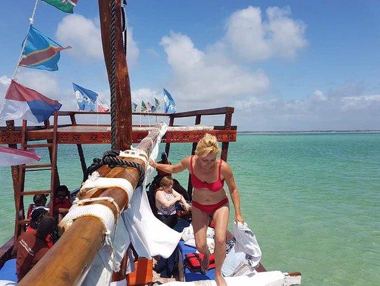 Uroa Blue Adventure Dhow heading to Kae Michamvi Private Island